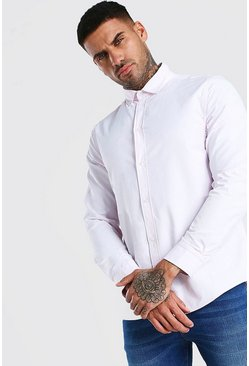 Pink Long Sleeve Fine Texture Classic Formal Shirt