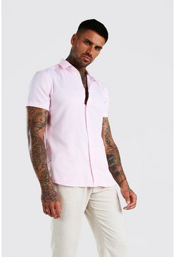 Pink Short Sleeve Oxford Shirt