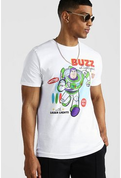White Toy Story Buzz Lightyear Licensed T-Shirt