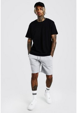 Ensemble short et t-shirt coupe ample Hi-Lo, Noir