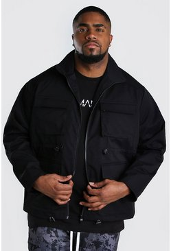 Veste fonctionnelle 4 poches Big And Tall, Noir