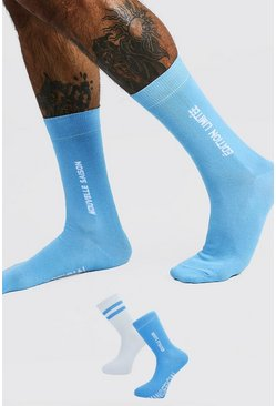 Blue MAN Official 'Edition' 2 Pack Socks