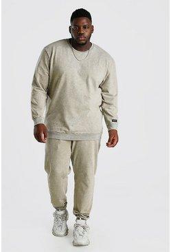 Sage Big And Tall Acid Wash Sweater Tracksuit