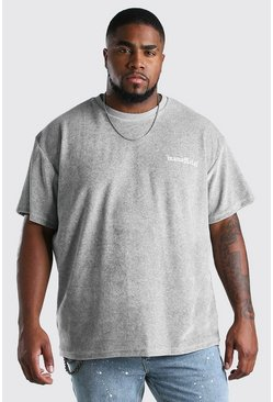 T-shirt ample en éponge Big And Tall, Gris