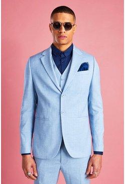 Light blue Skinny Fit Suit Jacket