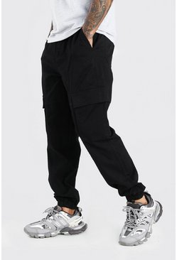 Black Belted Loose Fit Cargo Trouser
