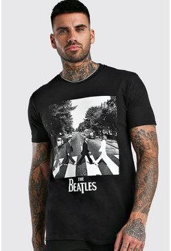 Black The Beatles Abbey Road Licensed T-Shirt
