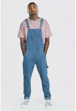 Vintage blue Slim Denim Overall