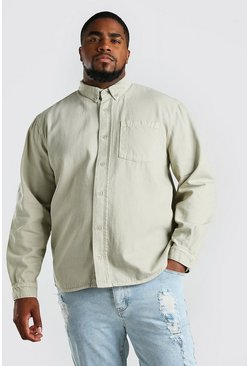 Stone Big And Tall Loose Fit Cotton Shirt Jacket