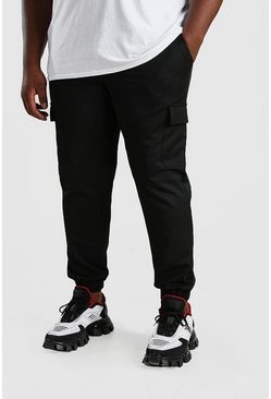 Black Big And Tall Skinny Cargo Pants