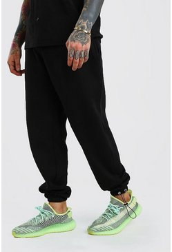 Black Relaxed Fit Jogger With Bungee Cords