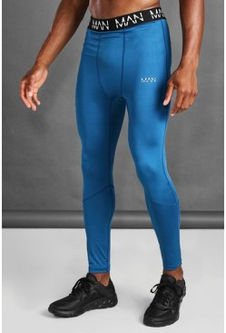 Navy MAN Active Compression Tights
