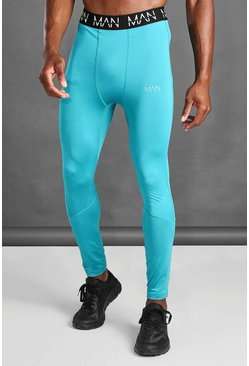Teal MAN Active Compression Tights