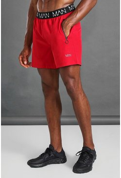 Red MAN Active Waistband Shorts