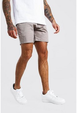 Grey Slim Fit Chino Short