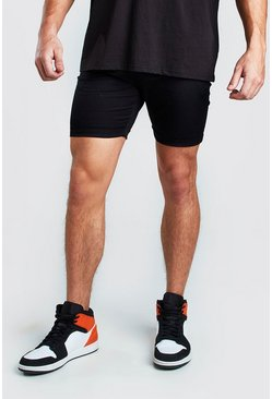 Super Skinny Chino-Shorts, Schwarz