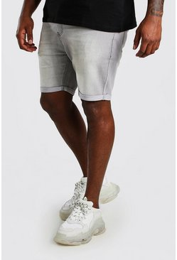 Grey Big And Tall Skinny Fit Jean Shorts