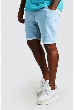 Pale blue Big And Tall Skinny Fit Jean Shorts