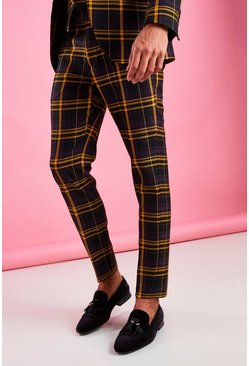 Black Skinny Bold Check Pants