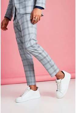 Light grey Skinny Prince Of Wales Check Pants