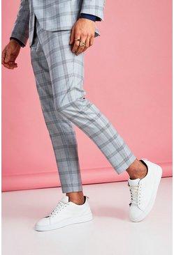 Light grey Skinny Prince Of Wales Check Pants