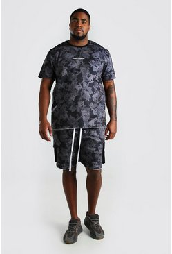 Big And Tall Camo Print T-Shirt Utility Set