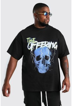 Black Big And Tall Skull Print T-Shirt