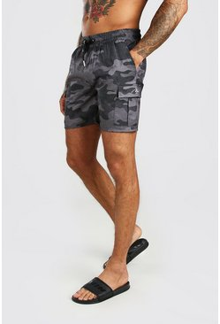 Dark grey Camo Cargo Short