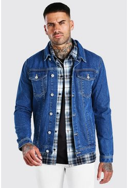 Mid blue Regular Denim Western Jacket