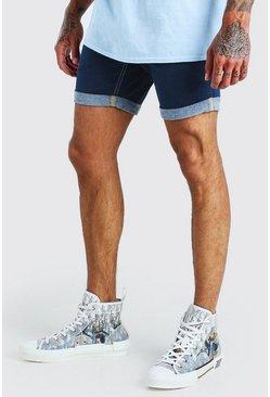 Dark blue Skinny Stretch Jean Shorts