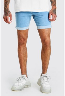 Light blue Skinny Stretch Jean Shorts