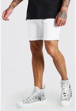 White Skinny Stretch Jean Shorts