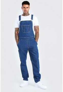 Mid blue Full Length Denim Dungrees