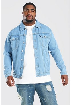 Light blue Big And Tall Regular Denim Western Jacket