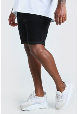 Black Big And Tall Skinny Stretch Jean Shorts
