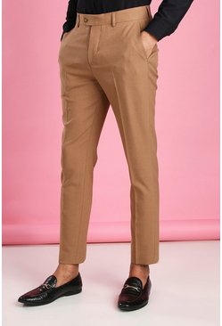 Camel Skinny Fit Suit Pants