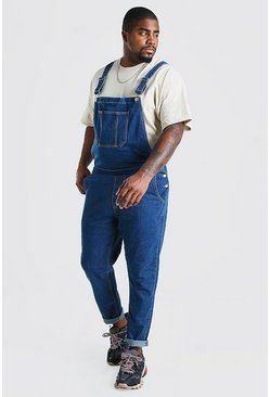 Mid blue Big And Tall Long Denim Dungarees