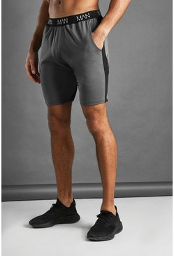 Charcoal MAN Active Mid Length Shorts