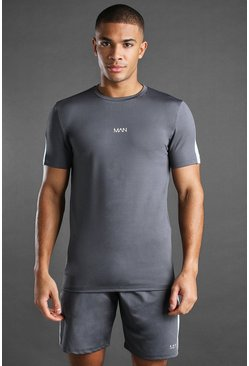 Ensemble short et t-shirt MAN Active, Anthracite