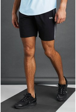 Black MAN Active Short With Panel Detail