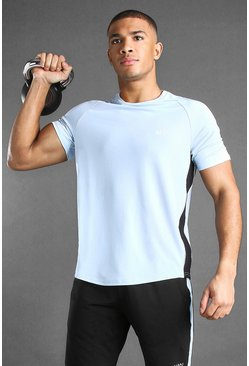 Blue MAN Active Poly Raglan T-Shirt With Panelled Detail