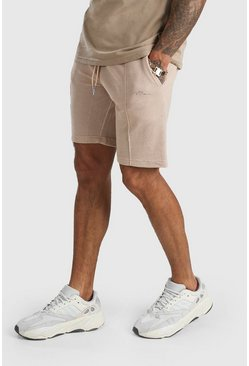 Stone MAN Signature Pique Slim Fit Pintuck Shorts
