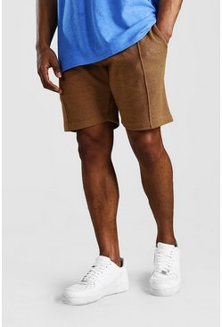 Tobacco MAN Signature Pique Slim Fit Pintuck Shorts