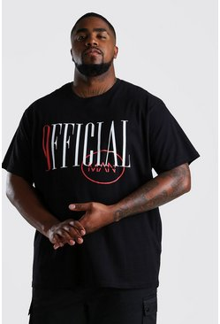 Black Big And Tall Loose Fit Official MAN T-Shirt