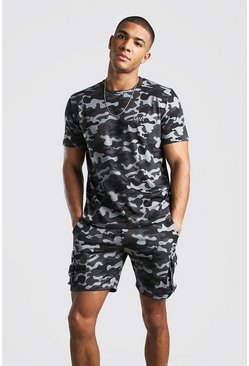 Grey Original MAN Camo Cargo Short Set