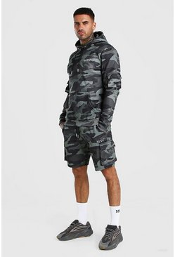 Green Original MAN Camo Cargo Short Tracksuit