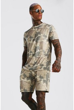 Green Camo T-Shirt & Short Set