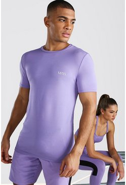 Purple His Active Raglan T Shirt