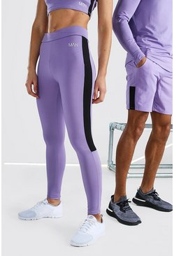 Purple Hers Active Tight With Crossed Waistband
