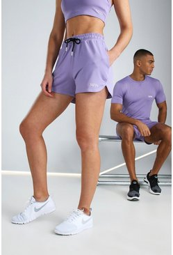 Purple Hers Active Runner Short